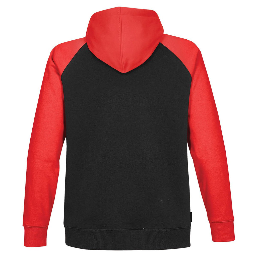 Stormtech Men's Black/Bright Red Omega Two-Tone Zip Hoody