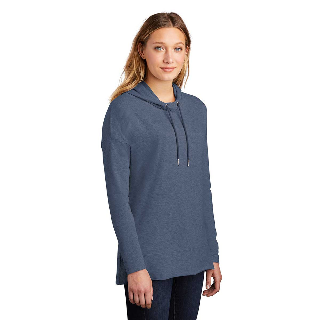 District Women's Washed Indigo Featherweight French Terry Hoodie