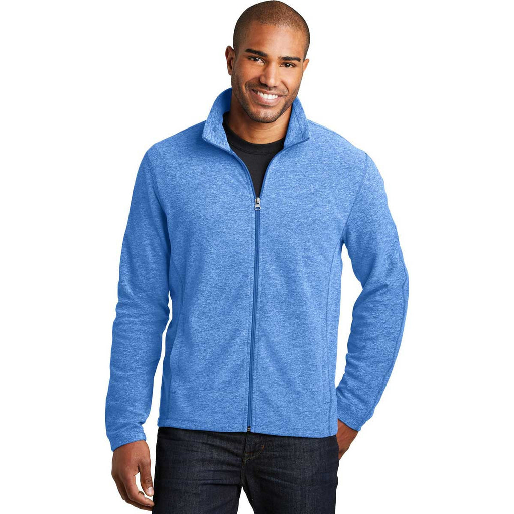 Port Authority Men's Light Royal Heather Microfleece Full-Zip Jacket