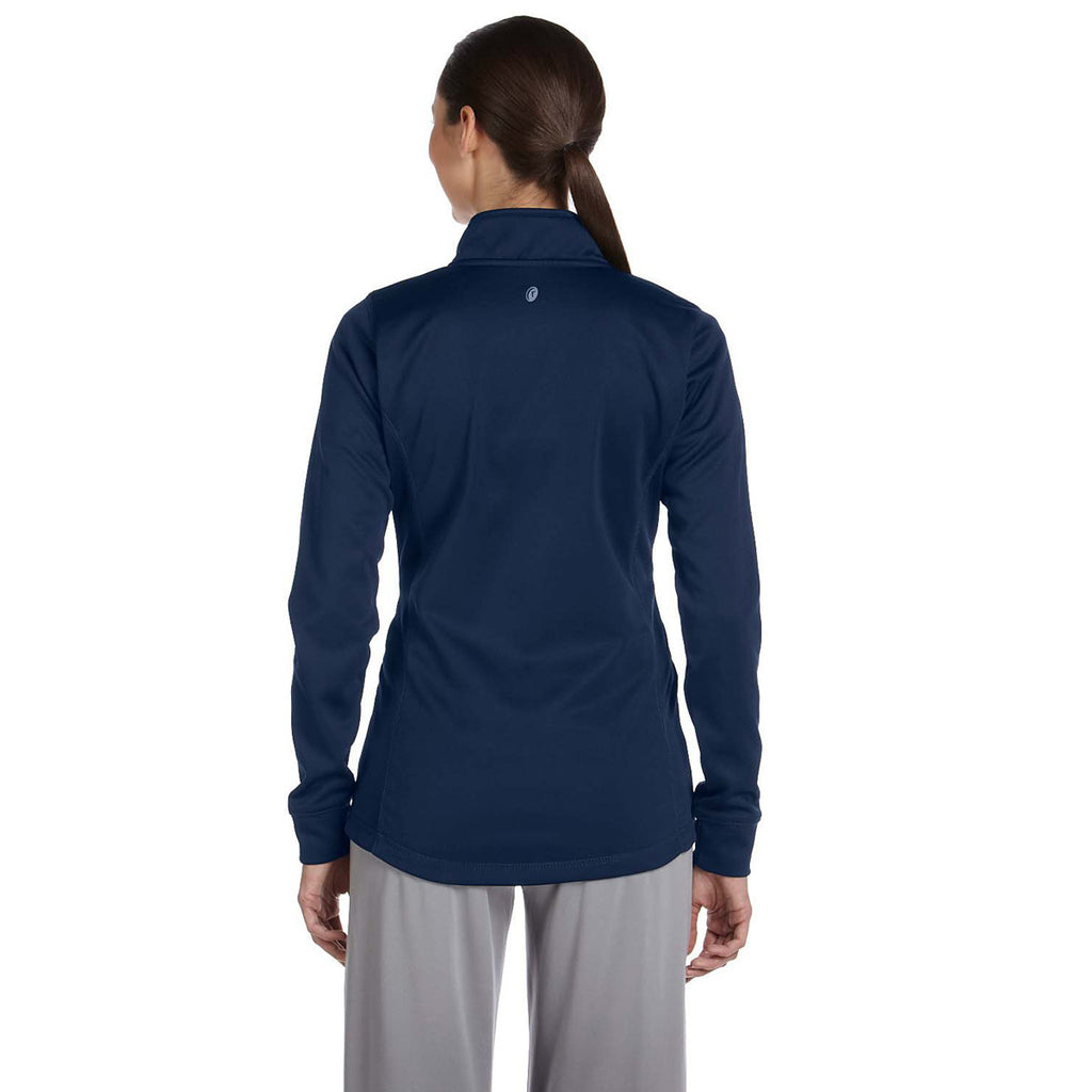 Russell Athletic Women's Navy Tech Fleece Full-Zip Cadet