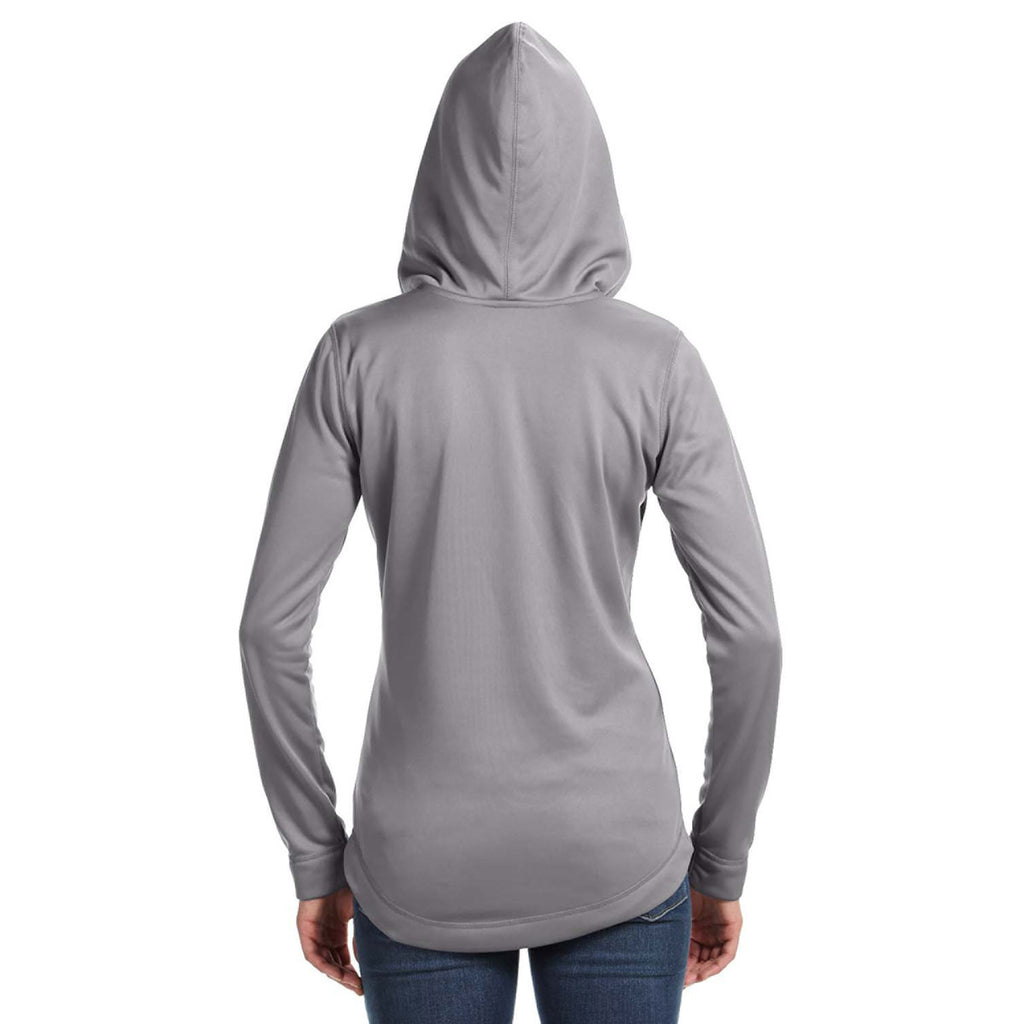 Russell Athletic Women's Steel Tech Fleece Quarter-Zip Pullover Hood