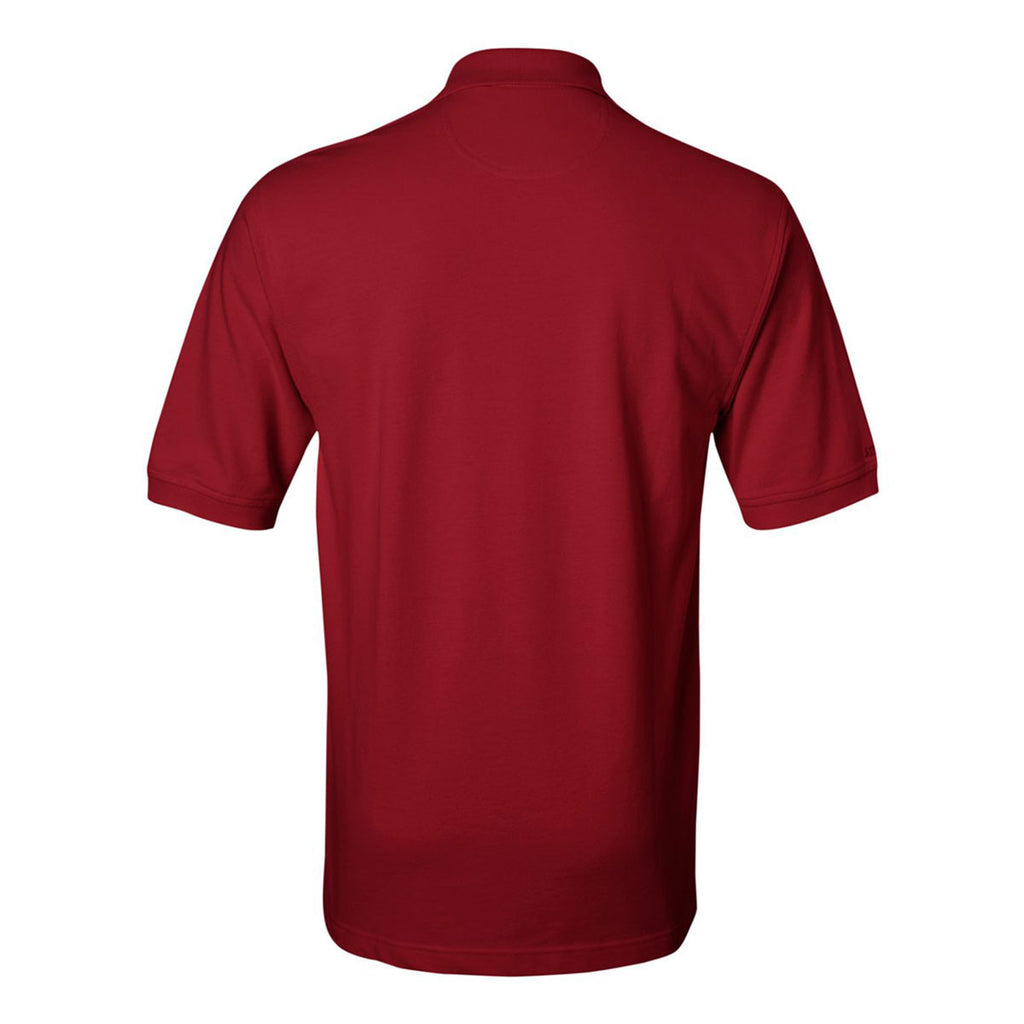 IZOD Men's Real Red Knit Pique Polo
