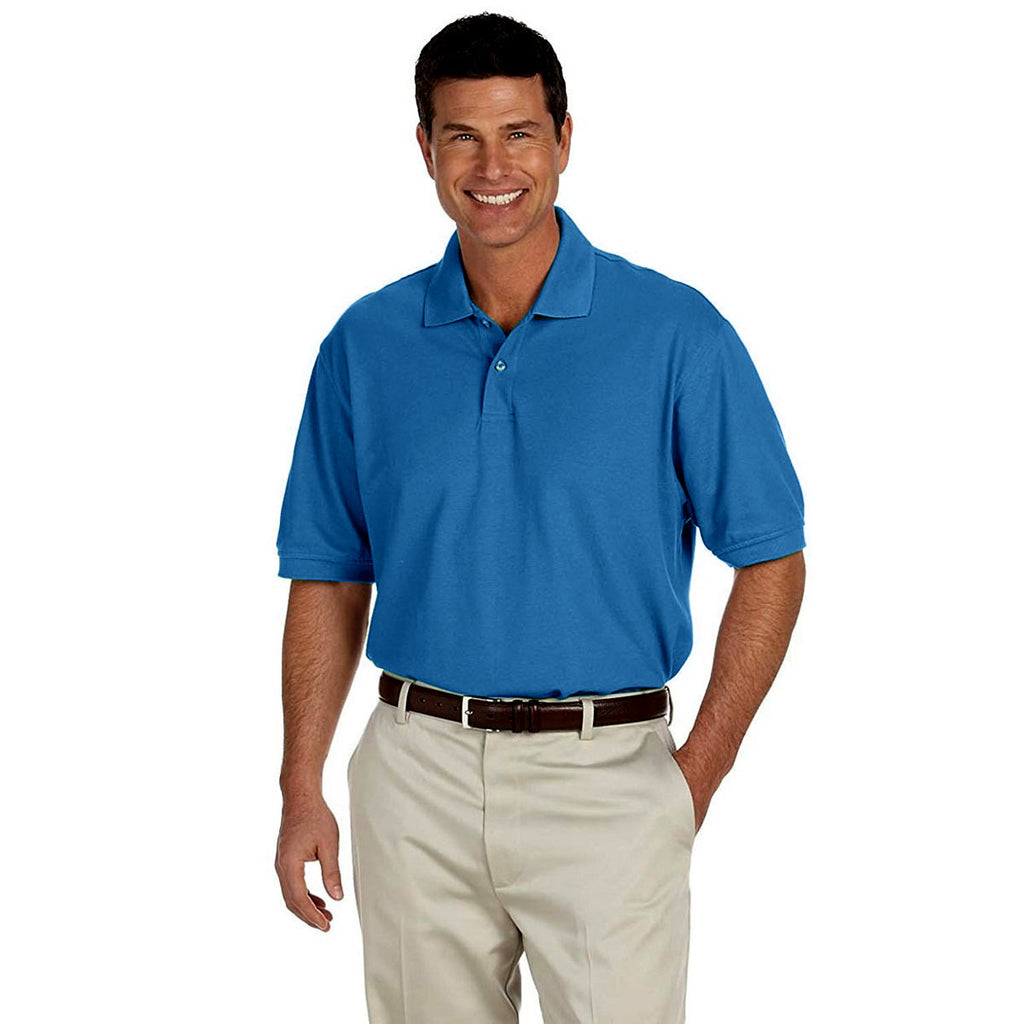 IZOD Men's Royal Blue Knit Pique Polo