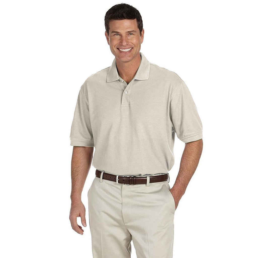 IZOD Men's Stone Dust Knit Pique Polo