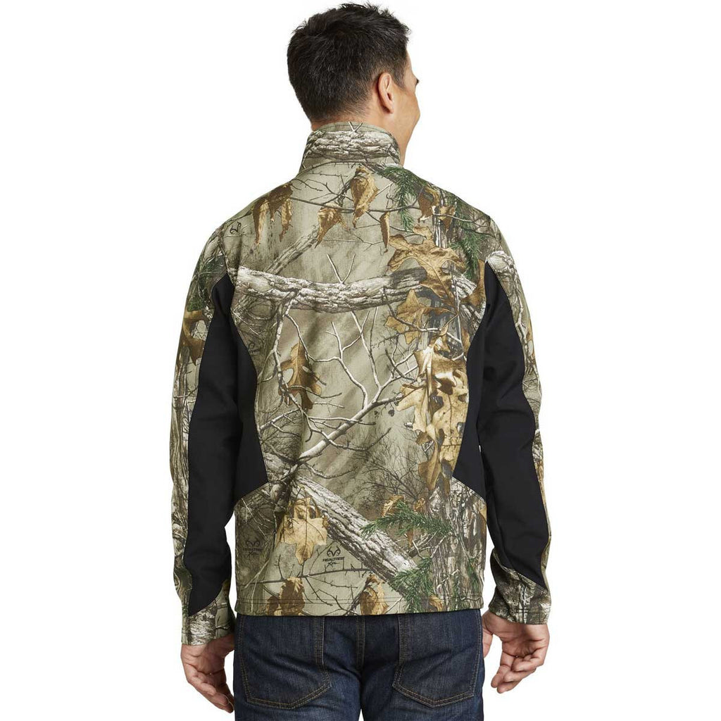 Port Authority Men's Realtree Xtra/Black Camouflage Colorblock Soft Shell