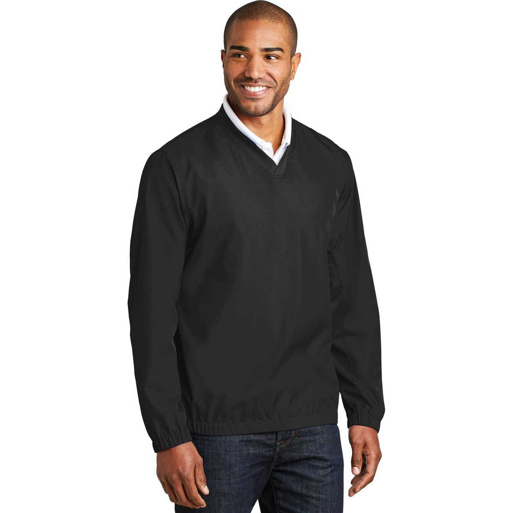 Port Authority Men's Black Zephyr V-Neck Pullover