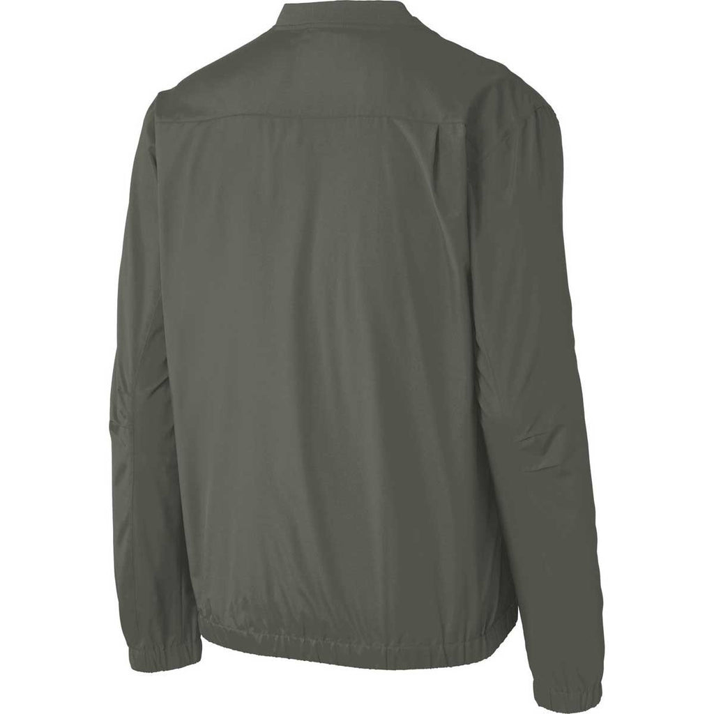 Port Authority Men's Grey Steel Zephyr V-Neck Pullover