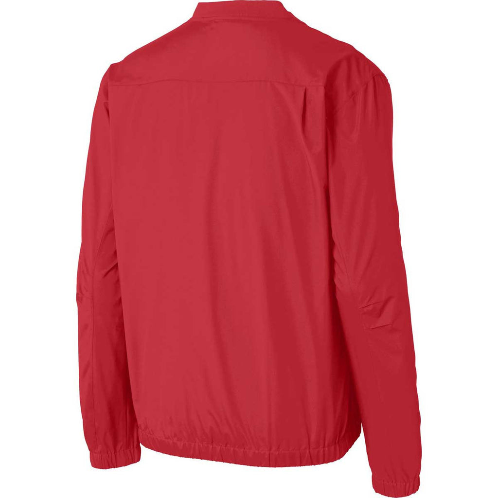 Port Authority Men's Rich Red Zephyr V-Neck Pullover