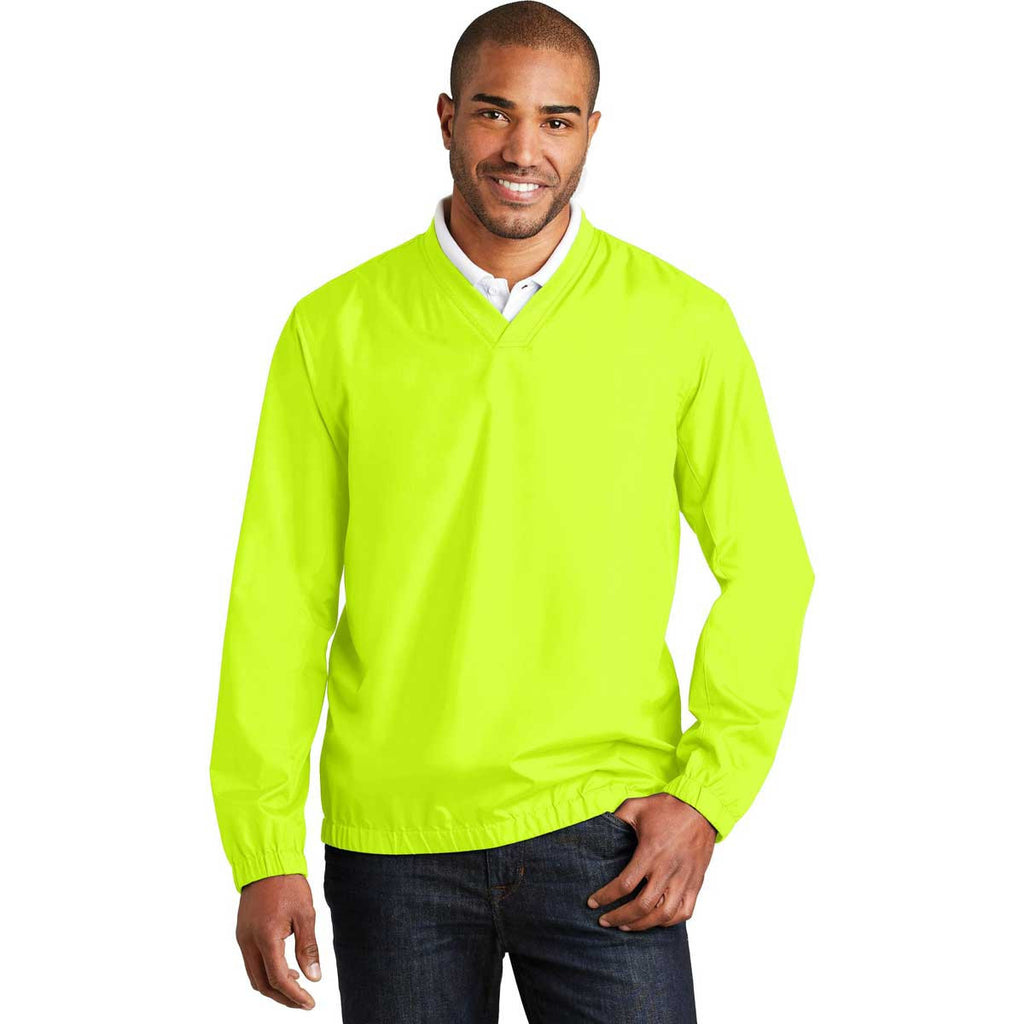 Port Authority Men's Safety Yellow Zephyr V-Neck Pullover