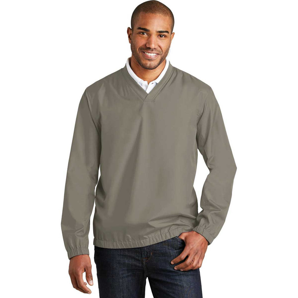 Port Authority Men's Stratus Grey Zephyr V-Neck Pullover