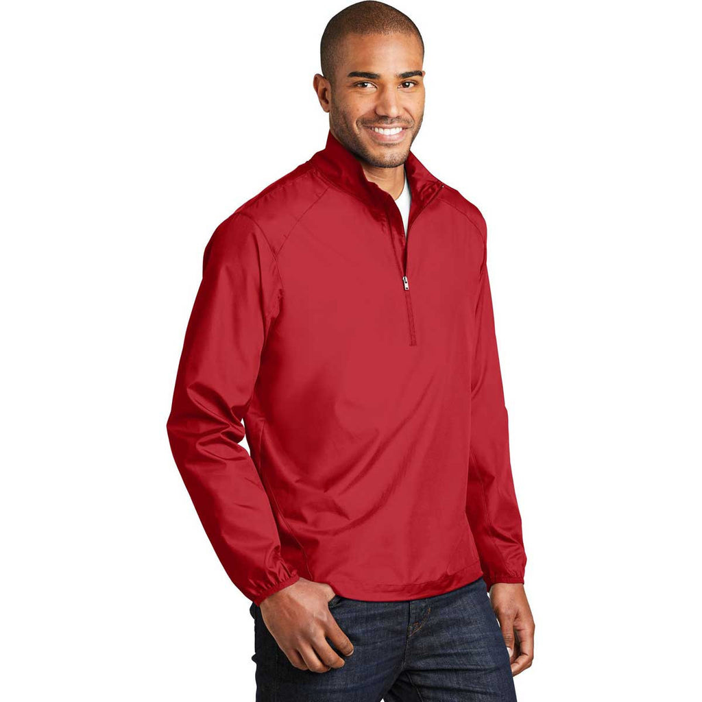 Port Authority Men's Rich Red Zephyr 1/2-Zip Pullover