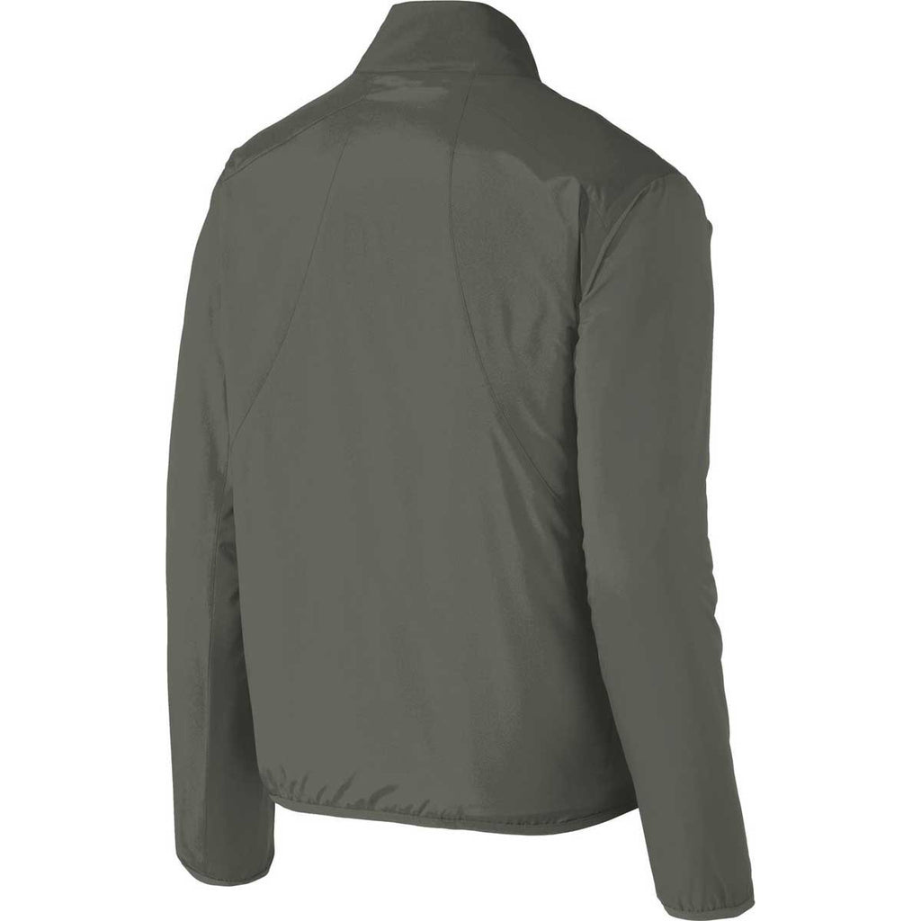 Port Authority Men's Grey Steel Zephyr Full-Zip Jacket