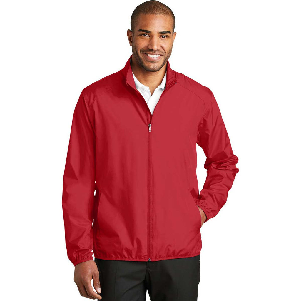 Port Authority Men's Rich Red Zephyr Full-Zip Jacket