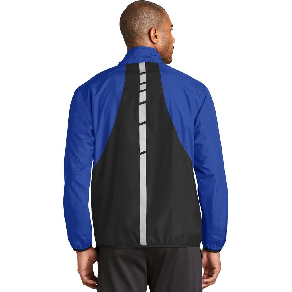 Port Authority Men's True Royal/Deep Black Zephyr Reflective Hit Full-Zip Jacket