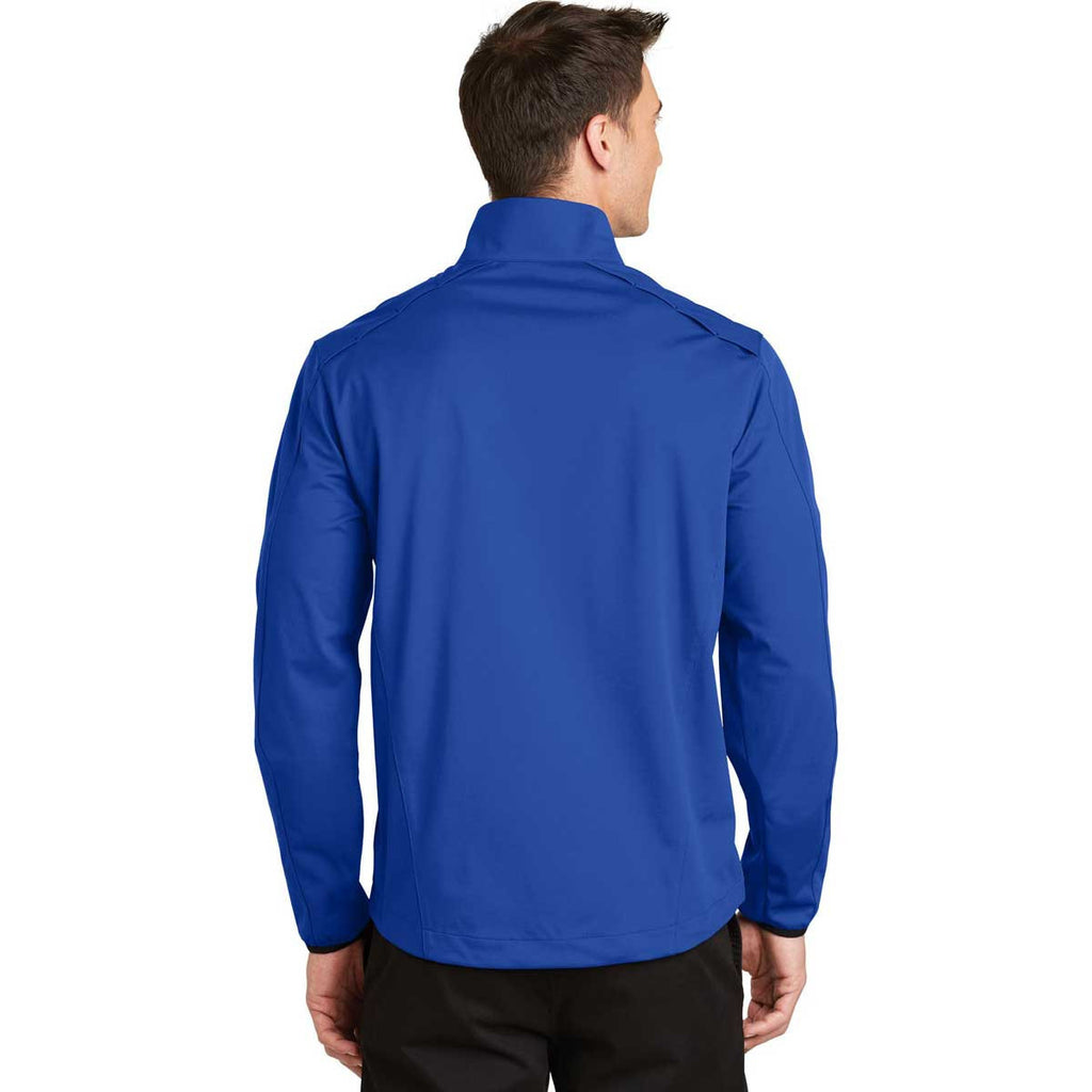 Port Authority Men's True Royal Active 1/2-Zip Soft Shell Jacket