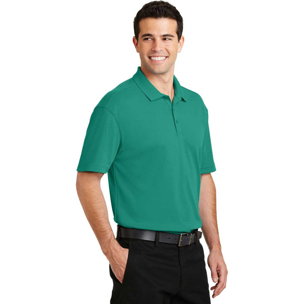 Port Authority Men's Verdant Green Silk Touch Interlock Performance Polo