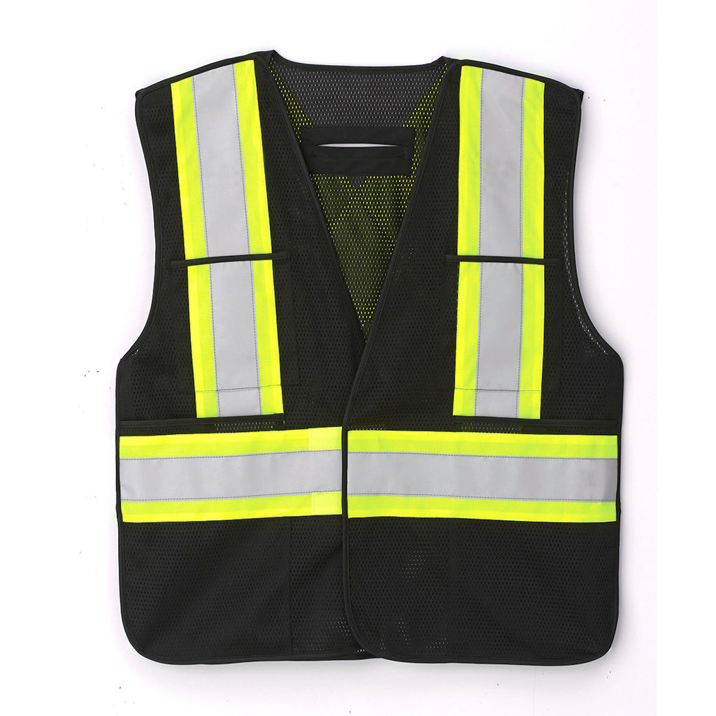 72d370fe2397e Canada Sportswear CX2 Rugged Wear Men's Black Guardian-Hi-Vis Safety Vest