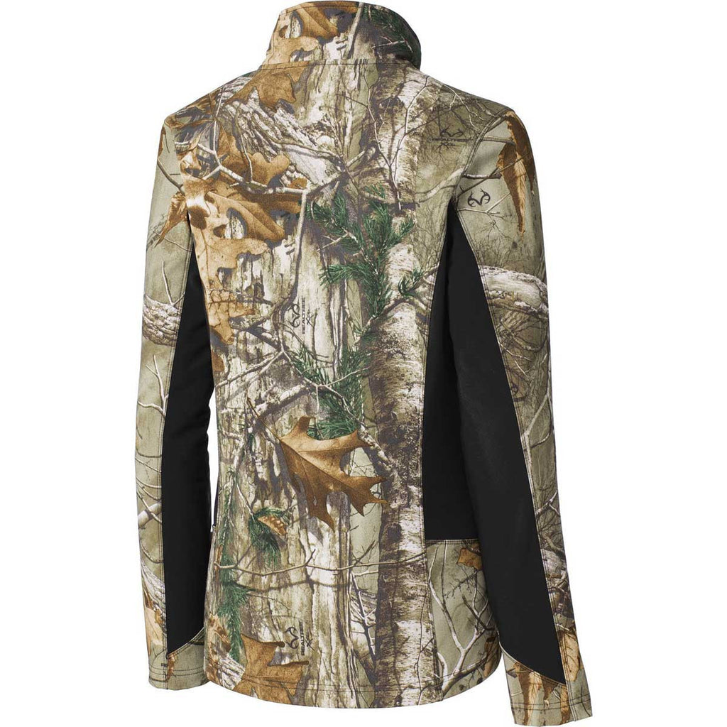 Port Authority Women's Realtree Xtra/Black Camouflage Colorblock Soft Shell