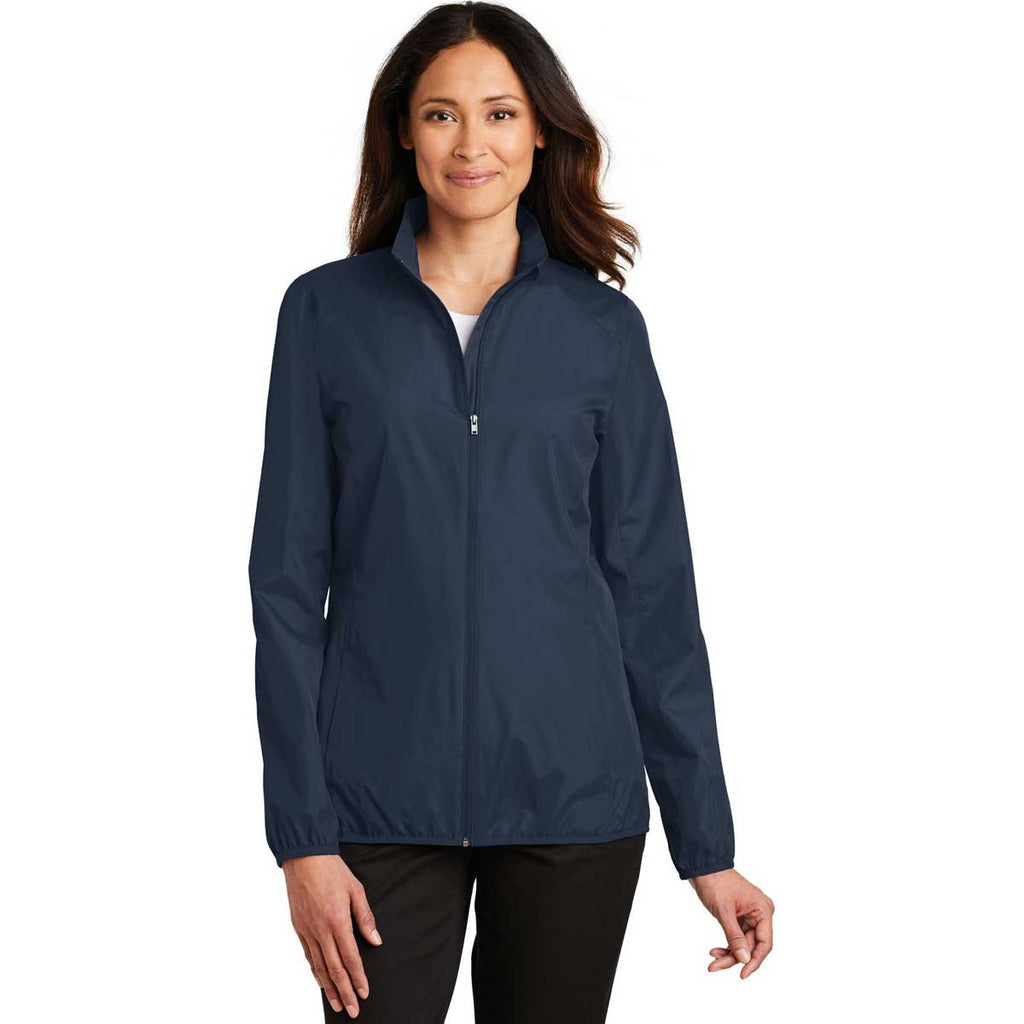 Port Authority Women's Dress Blue Navy Zephyr Full-Zip Jacket