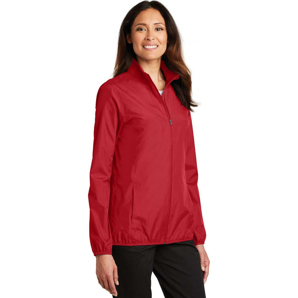 Port Authority Women's Rich Red Zephyr Full-Zip Jacket
