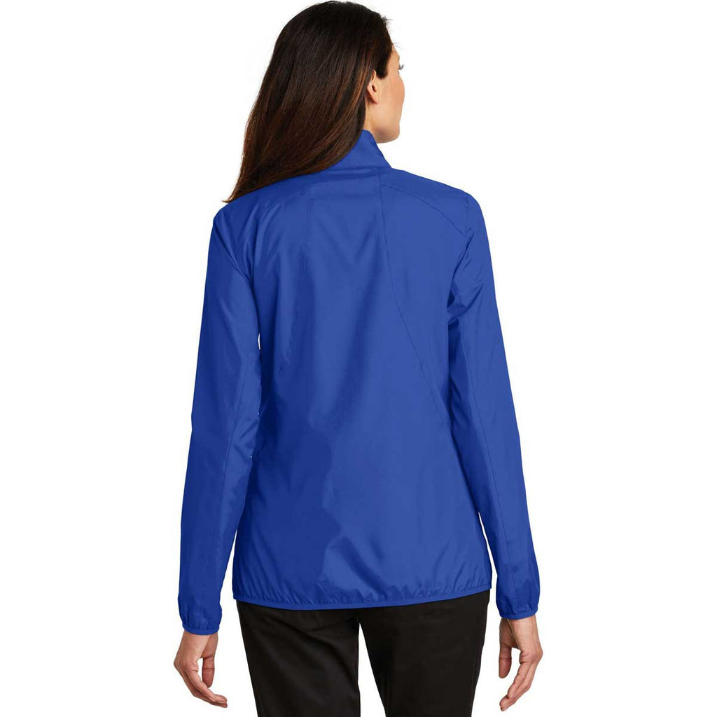 Port Authority Women's True Royal Zephyr Full-Zip Jacket
