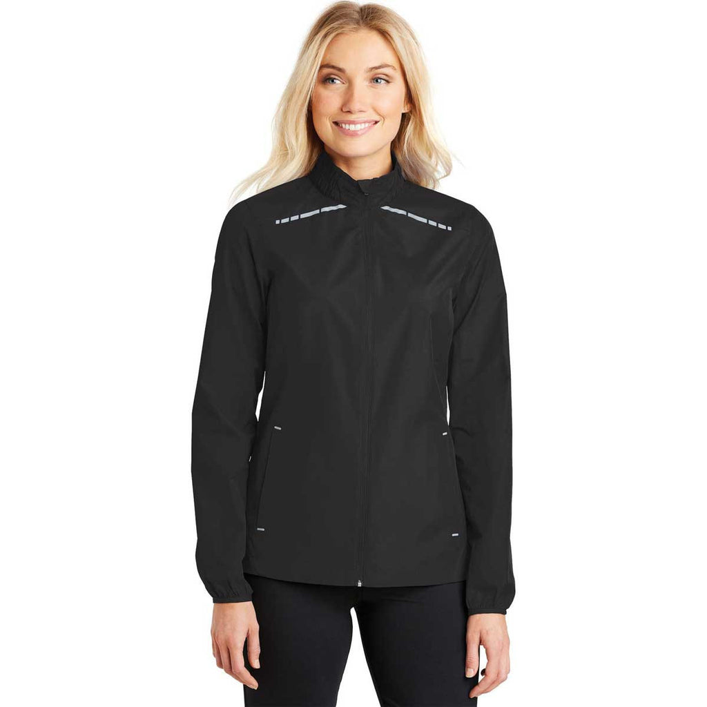 Port Authority Women's Black Zephyr Reflective Hit Full-Zip Jacket