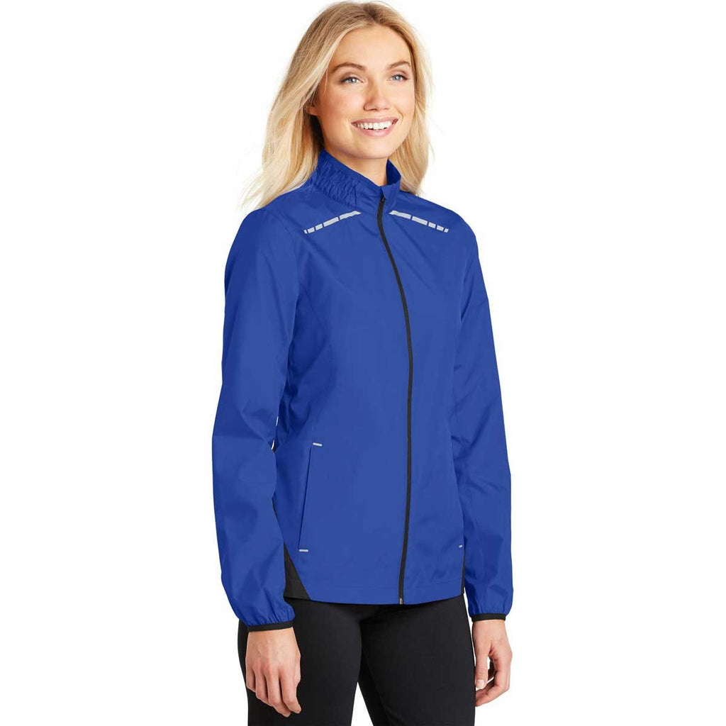Port Authority Women's True Royal/Deep Black Zephyr Reflective Hit Full-Zip Jacket