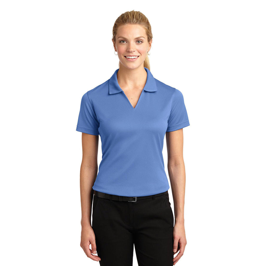 Sport-Tek Women's Blueberry Dri-Mesh V-Neck Polo