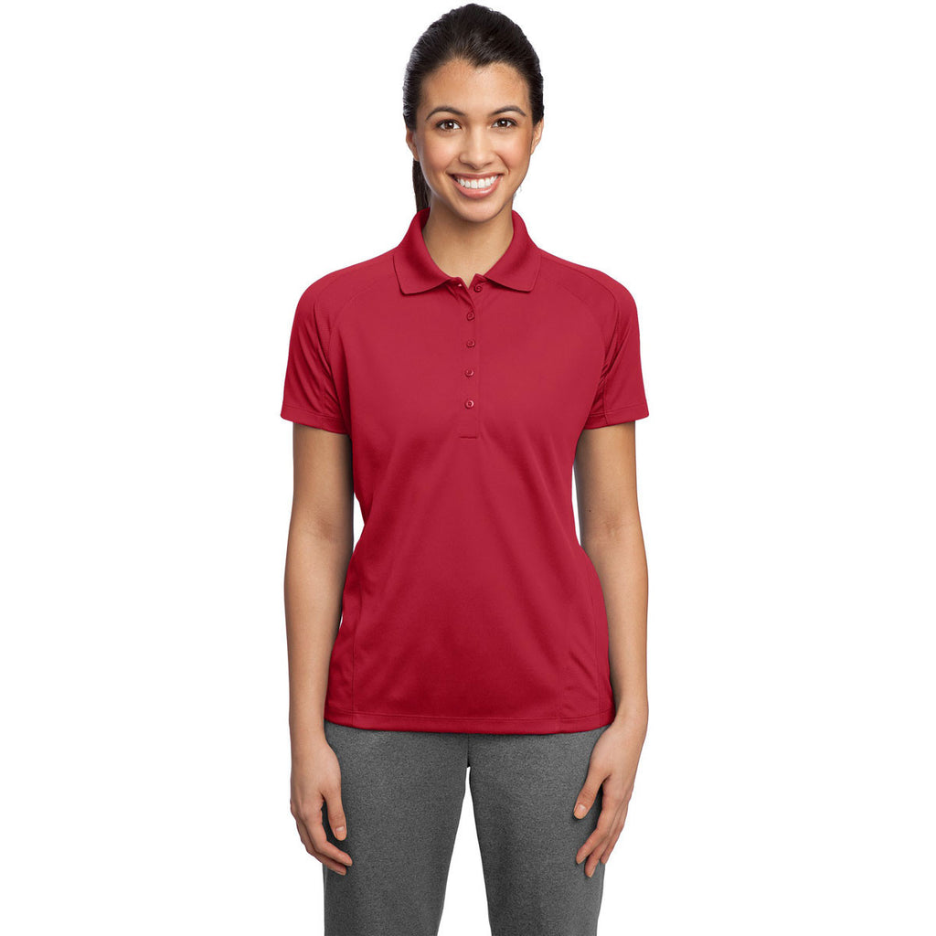 Sport-Tek Women's Engine Red Dri-Mesh Pro Polo