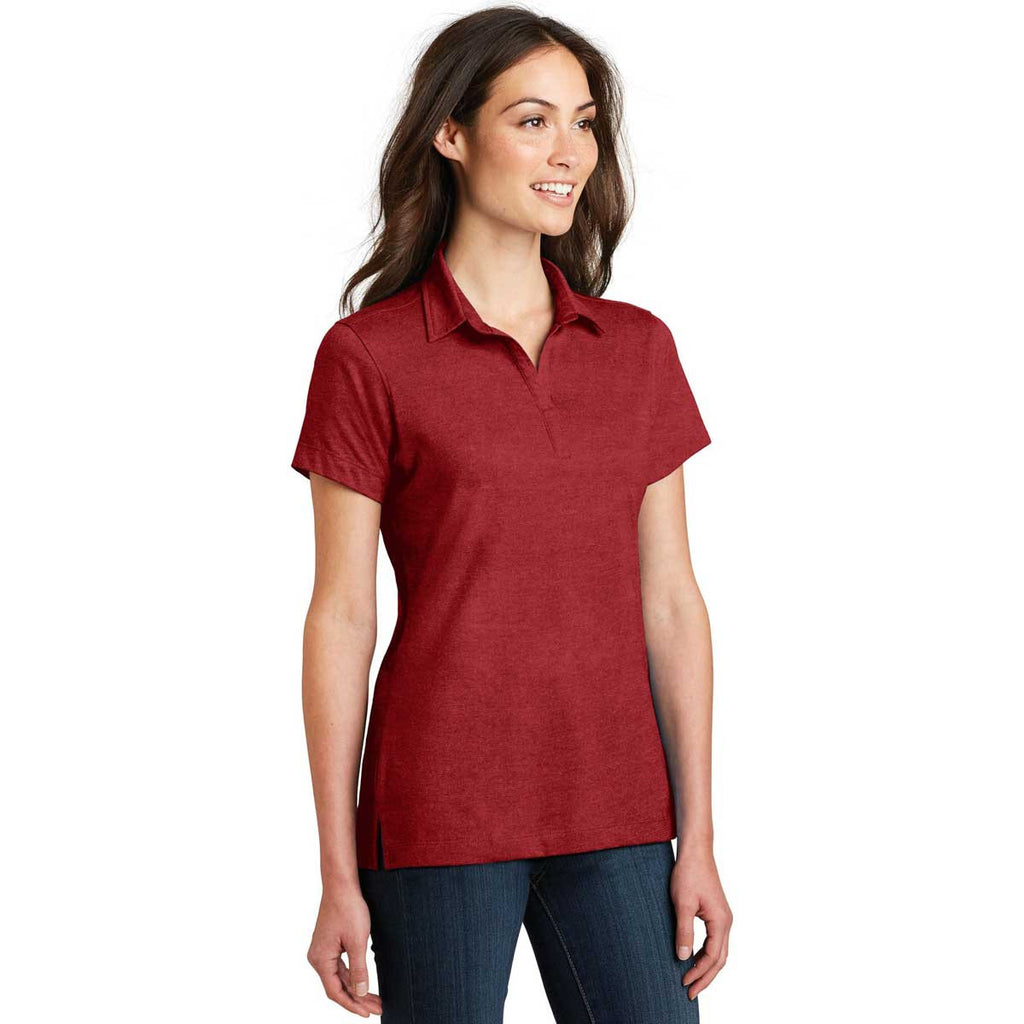 Port Authority Women's Flame Red Meridian Cotton Blend Polo
