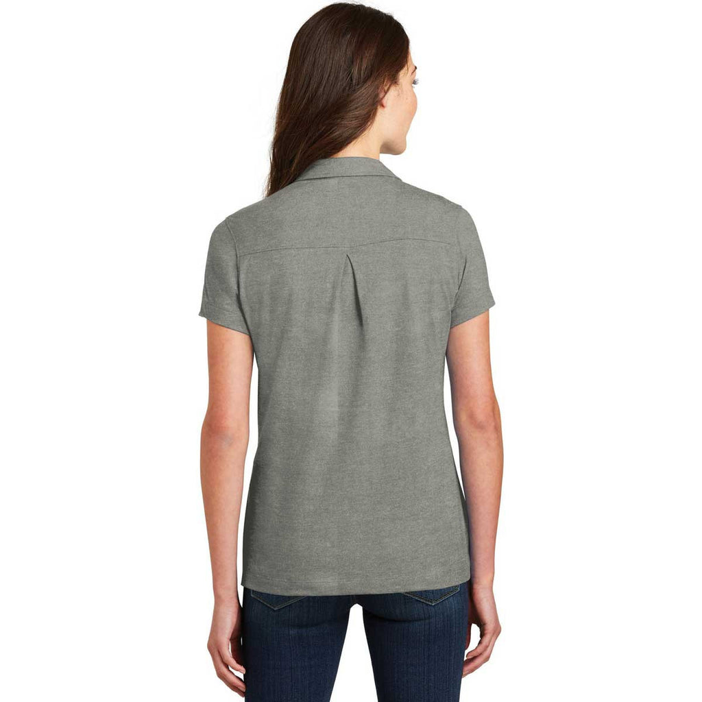 Port Authority Women's Monument Grey Meridian Cotton Blend Polo