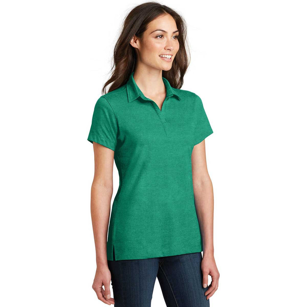 Port Authority Women's Verdant Green Meridian Cotton Blend Polo
