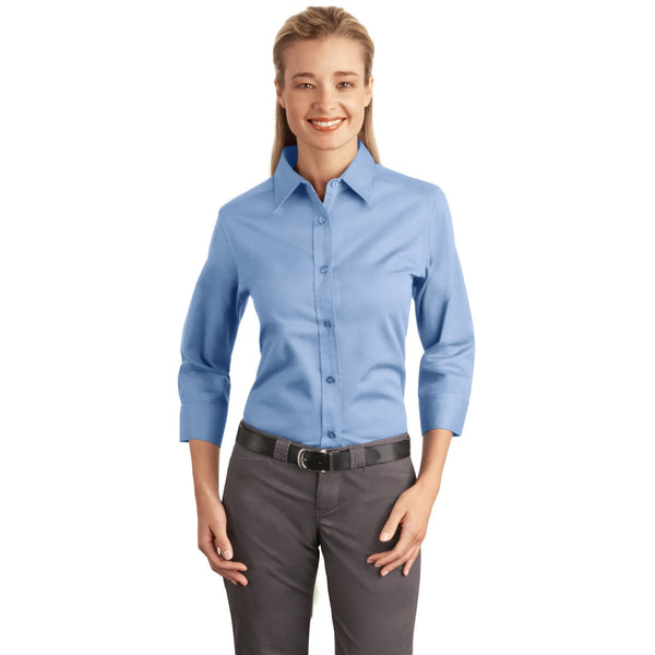 36b2776ec Port Authority Embroidered Women's Dress Shirt | Logoed Blouses + Tops