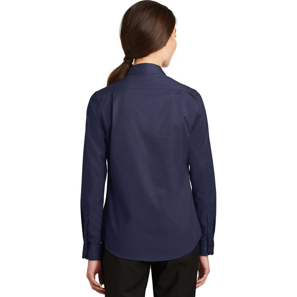 Port Authority Women's True Navy SuperPro Twill Shirt