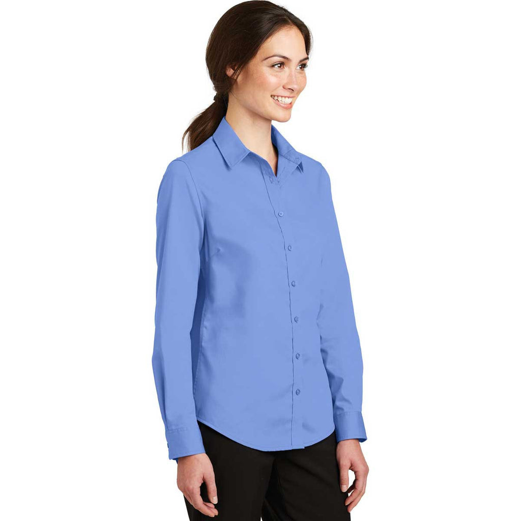 Port Authority Women's Ultramarine Blue SuperPro Twill Shirt