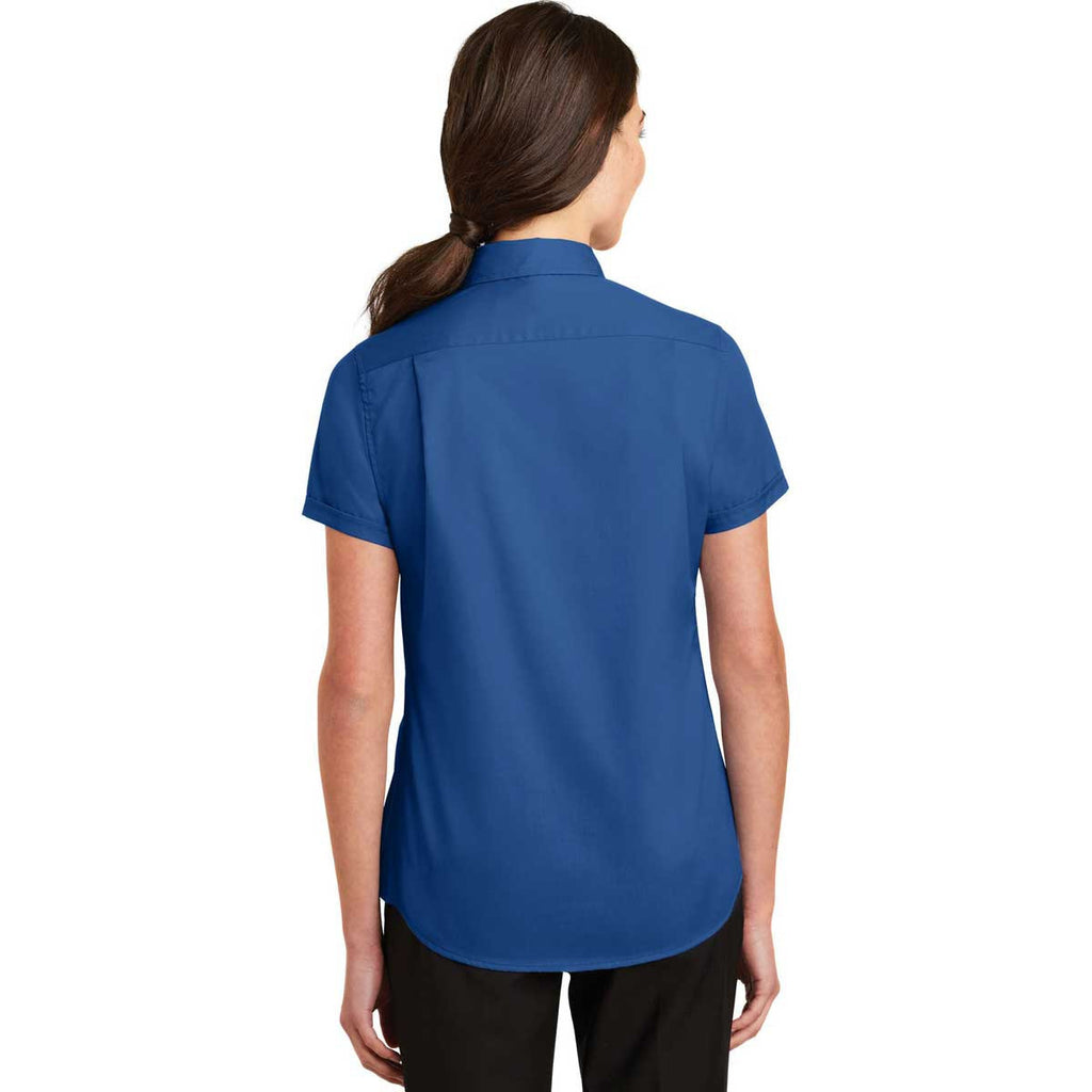 Port Authority Women's True Blue Short Sleeve SuperPro Twill Shirt