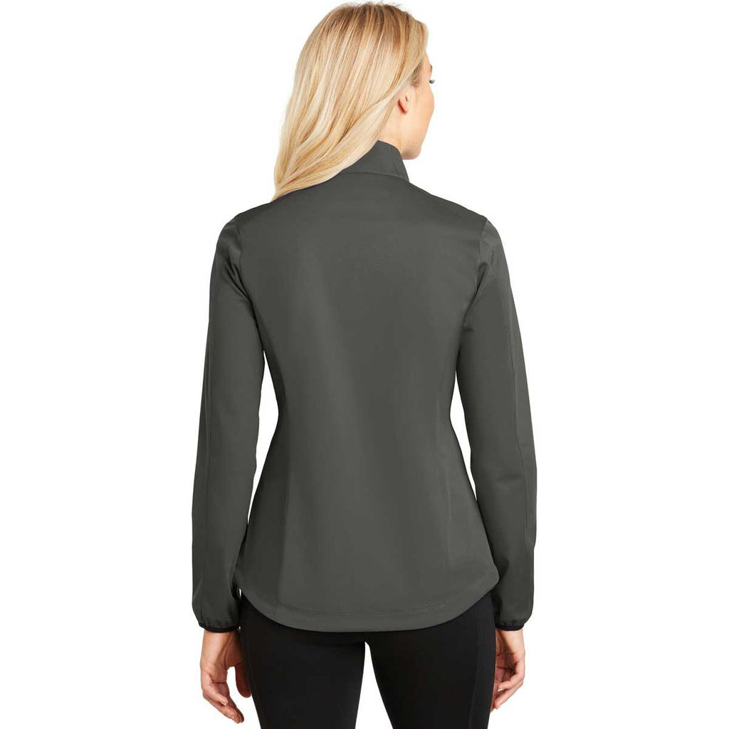 Port Authority Women's Grey Steel Active Soft Shell Jacket