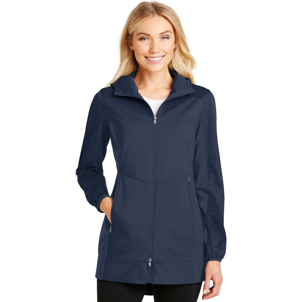 Port Authority Women's Dress Blue Navy Active Hooded Soft Shell Jacket