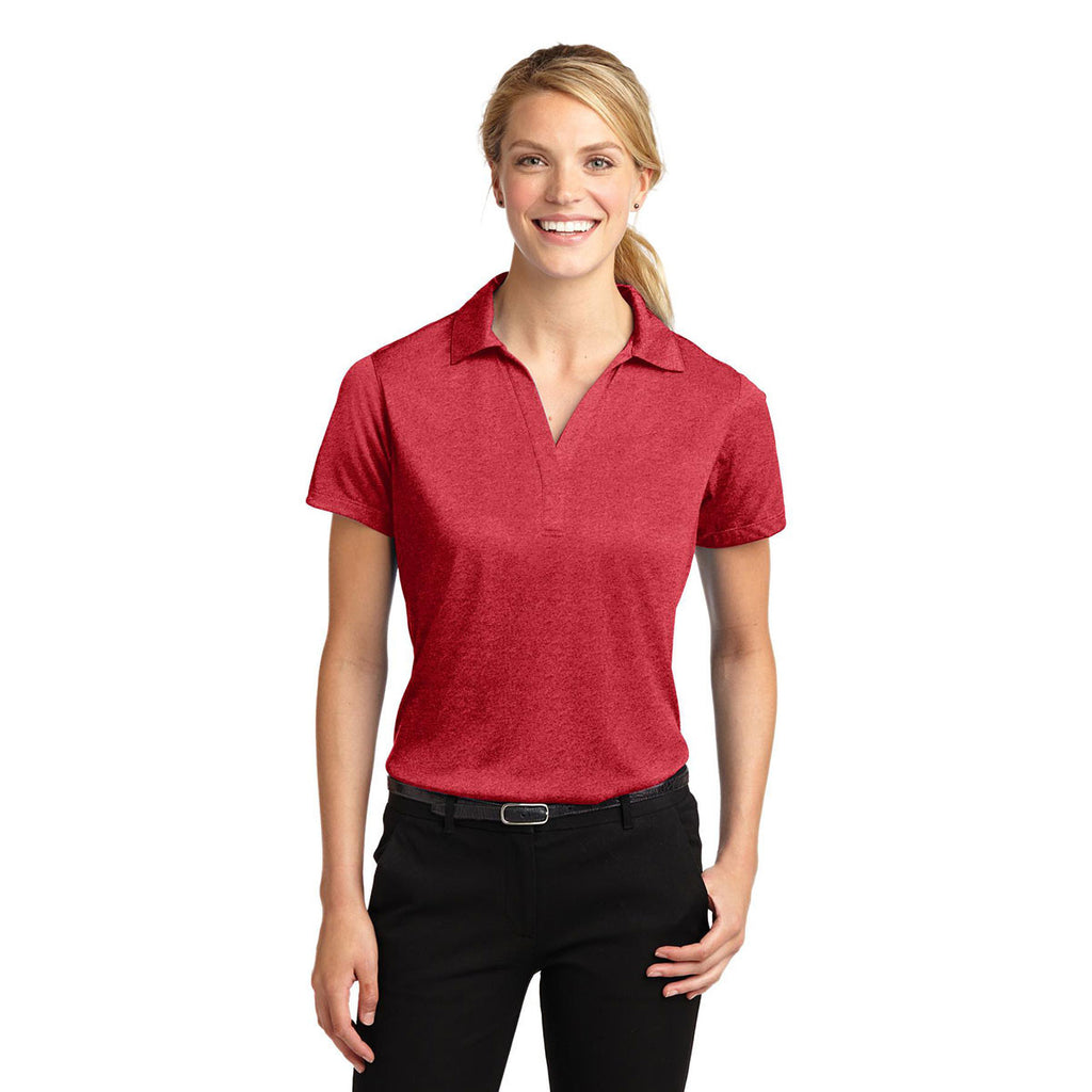 Sport-Tek Women's Scarlet Heather Contender Polo