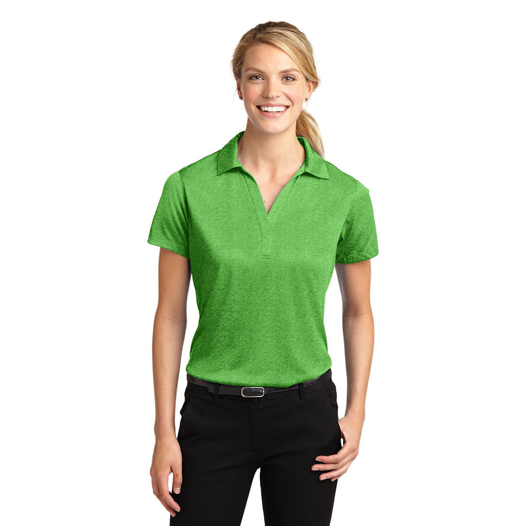 d2e5e9d1 Sport-Tek Women's Turf Green Heather Contender Polo