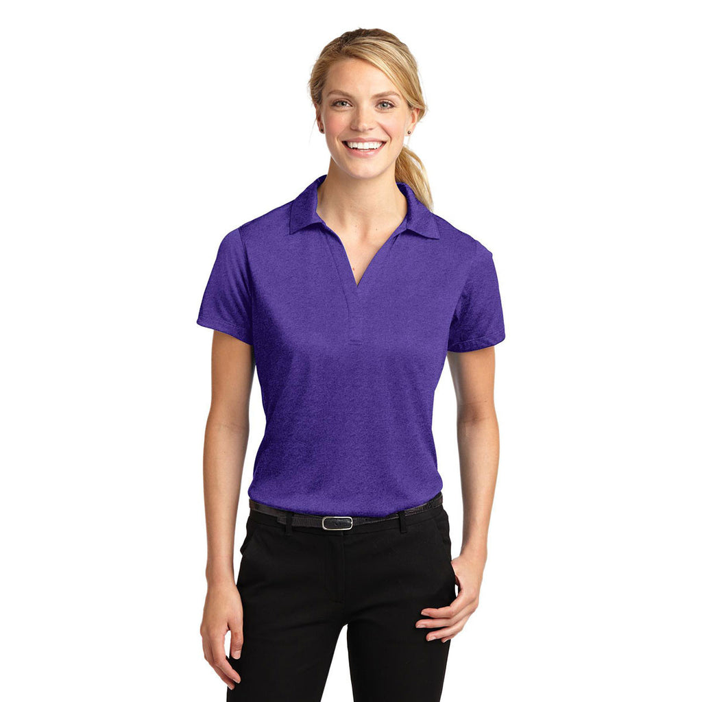 Sport-Tek Women's Varsity Purple Heather Contender Polo