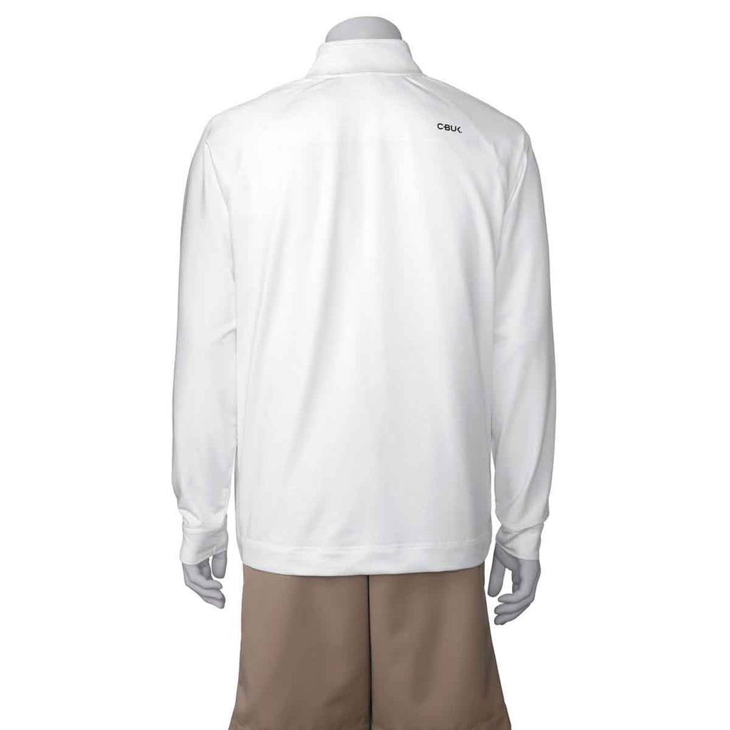 Cutter & Buck Men's Bright White Jackson Half Zip Overknit