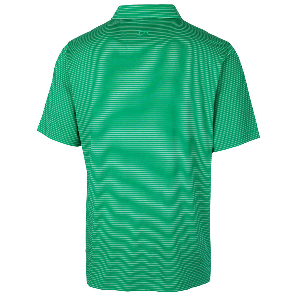 Cutter & Buck Men's Kelly Green Forge Polo Pencil Stripe