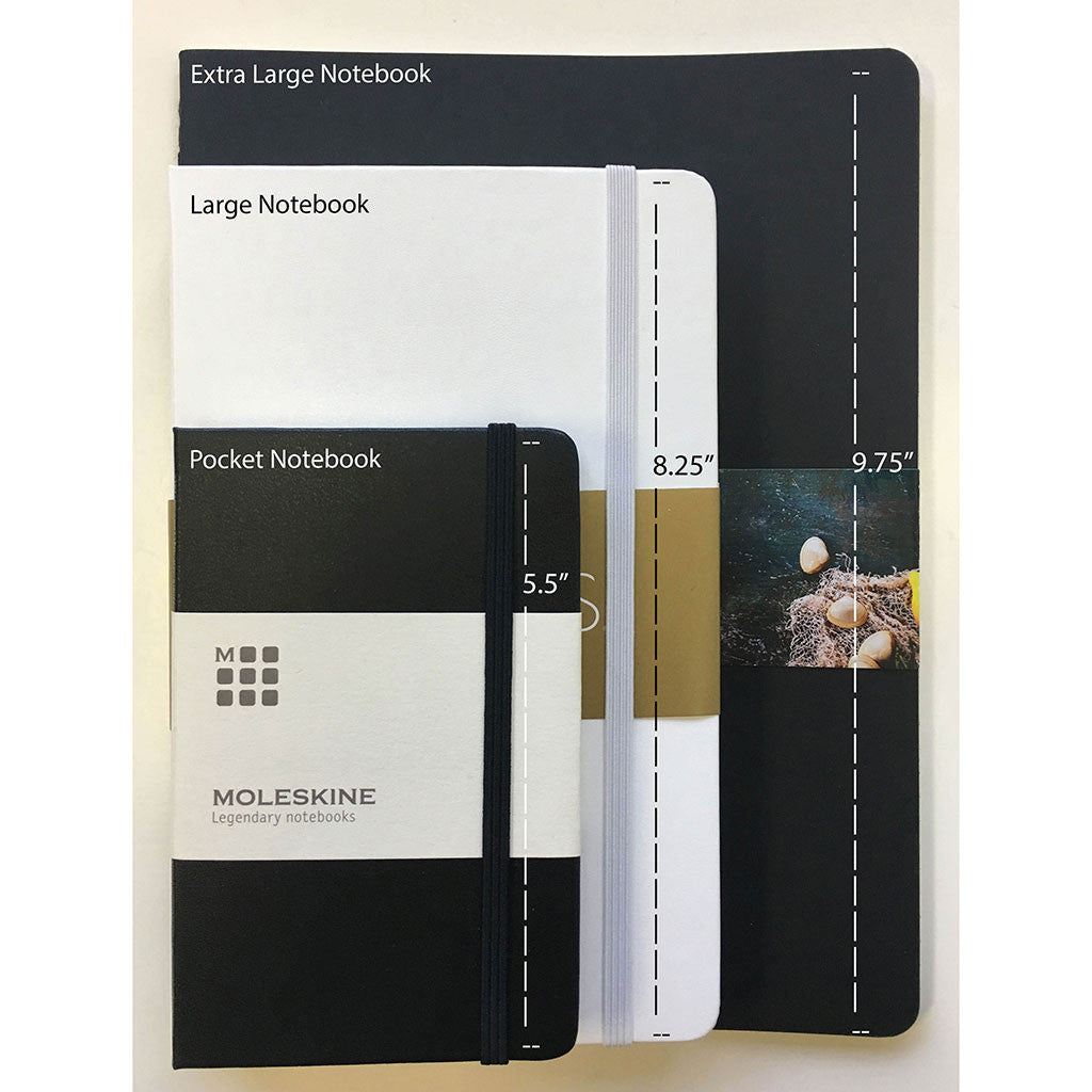 "Moleskine Black Hard Cover Ruled Large Notebook (5"" x 8.25"")"