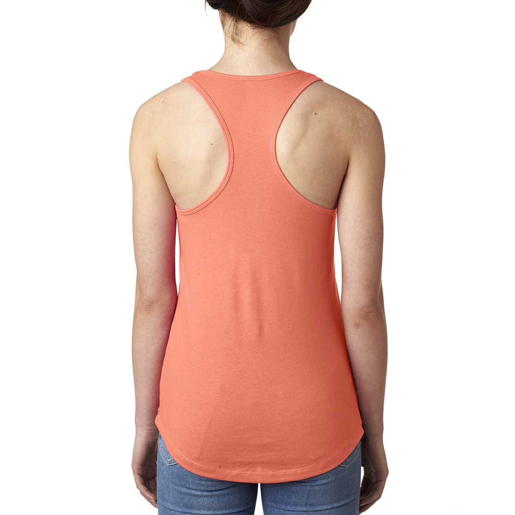 Next Level Women's Light Orange Ideal Racerback Tank