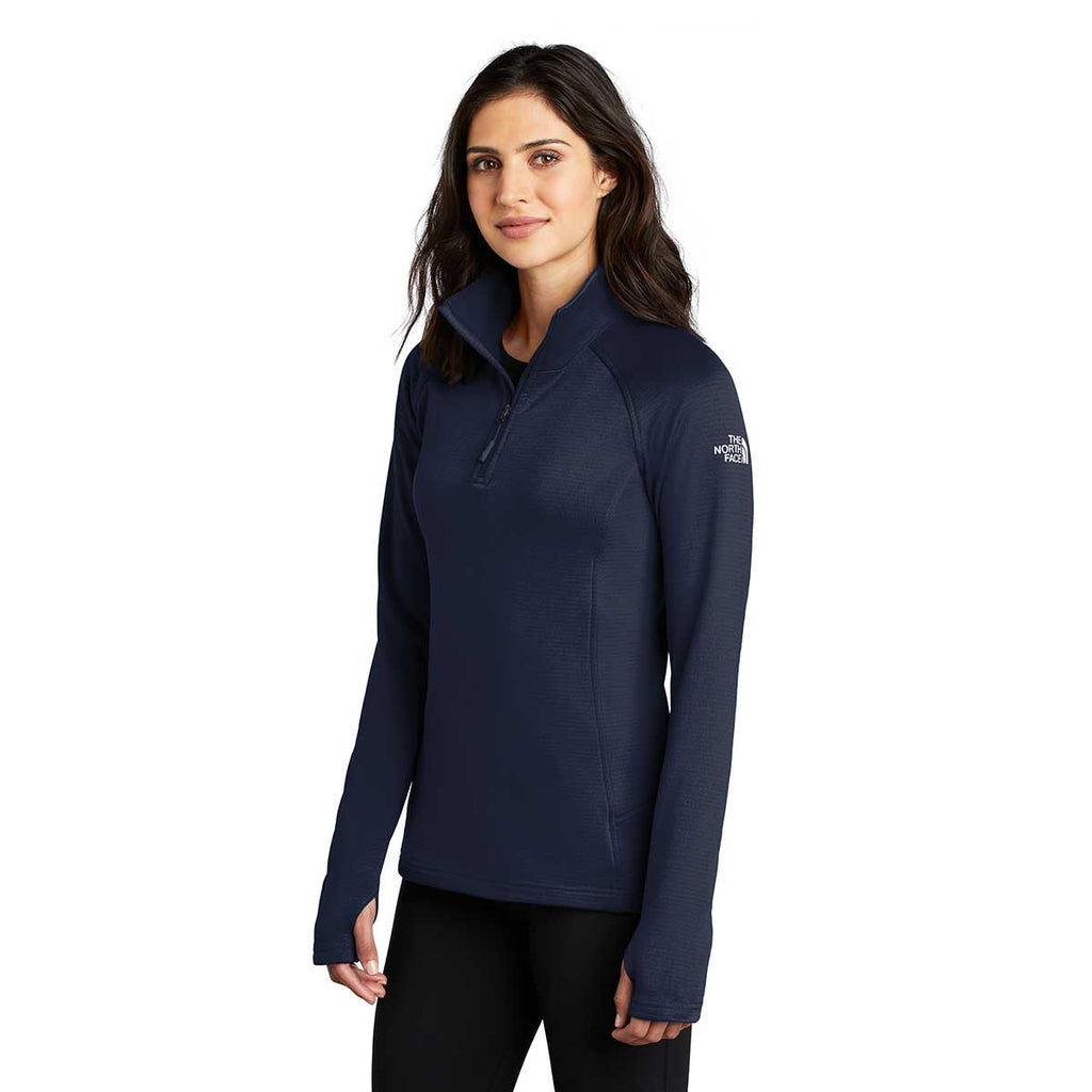 The North Face Women's Urban Navy Mountain Peaks Fleece Quarter Zip
