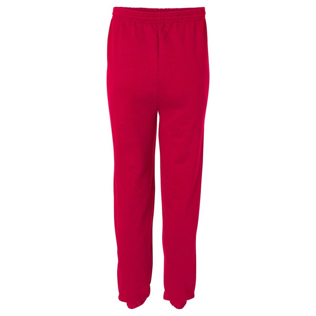 Champion Men's Scarlet Double Dry ECO Fleece Closed Bottom Pant