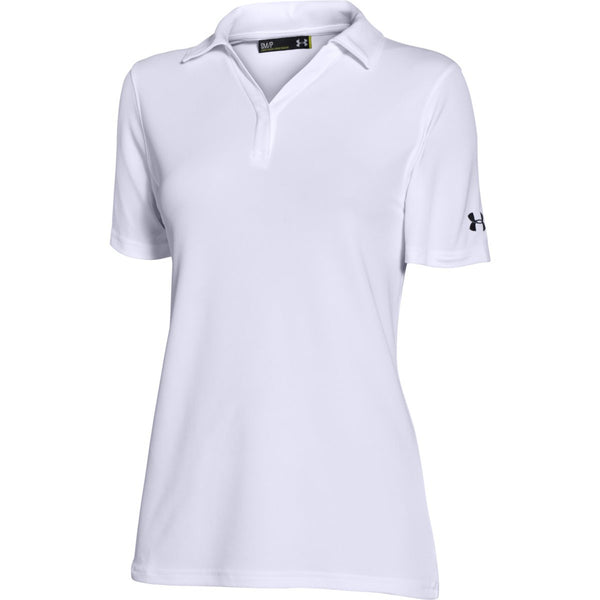 Under Armour Corporate Women s White Performance Polo b3a9545567eba