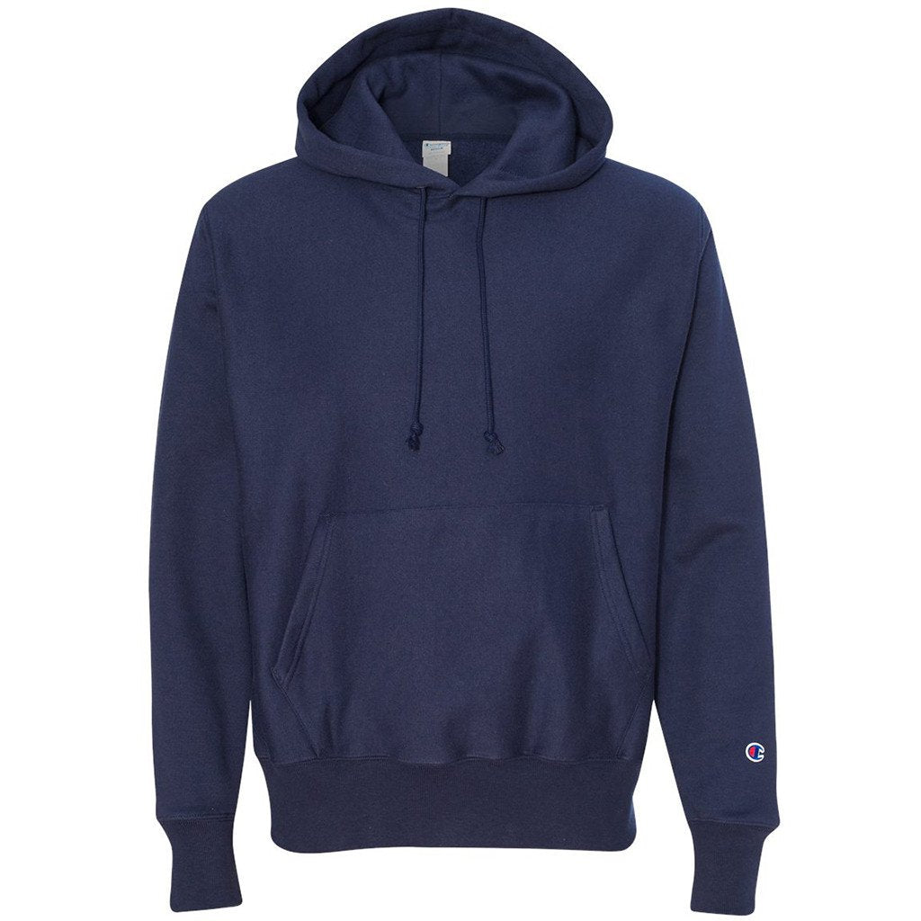 70d988115 Champion Men's Sport Dark Navy Reverse Weave 12-Ounce Pullover Hood