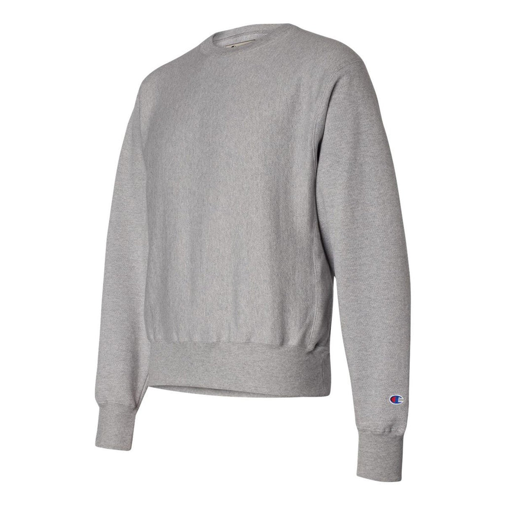 Champion Men's Oxford Grey Reverse Weave Fleece Crew